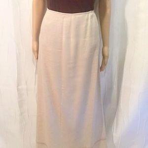 Tan/Natural Color Linen Blend Maxi Skirt by Caslon